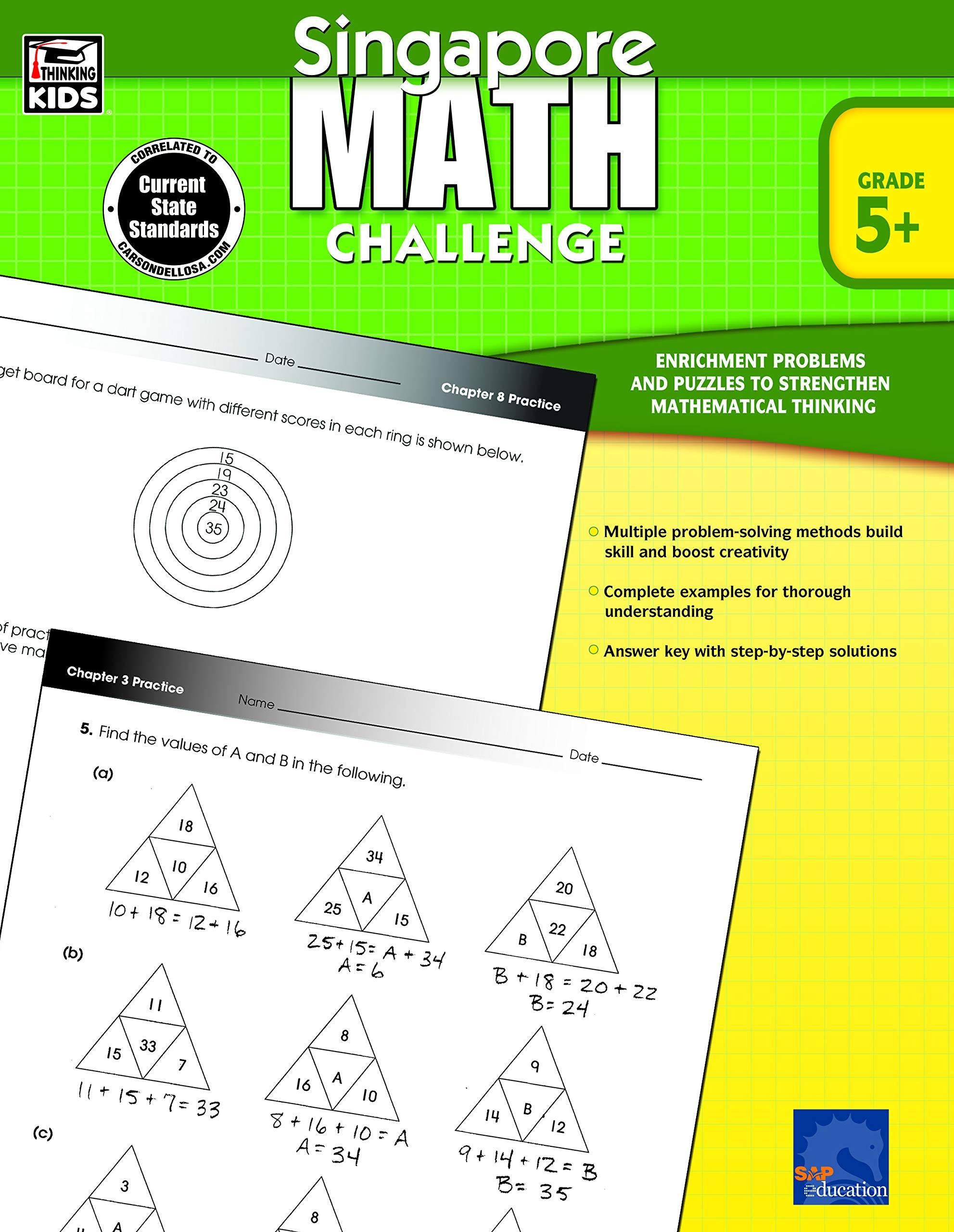 Challenge Math Worksheets Singapore Math – Challenge Workbook for 5th 6th 7th 8th