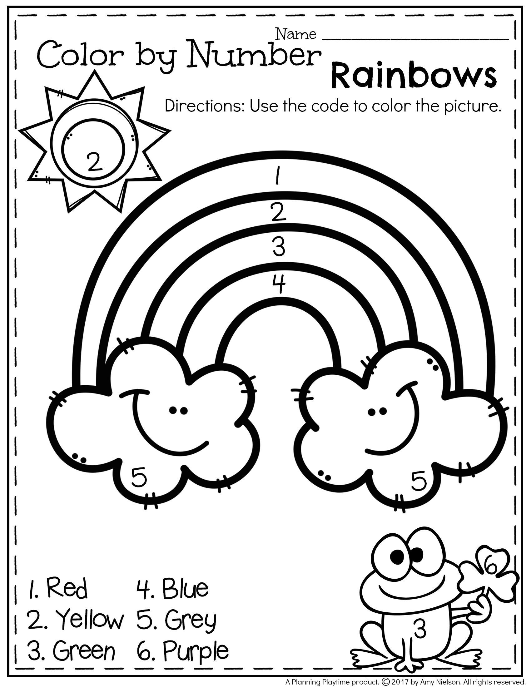Color Blue Worksheets for Preschool Pre Number Matching Worksheet Thanksgiving Learning Numbers