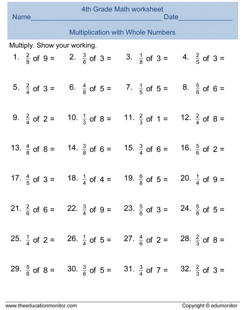 Comparing Fractions Worksheet 4th Grade Free Math Worksheets for 4th Grade Fractions