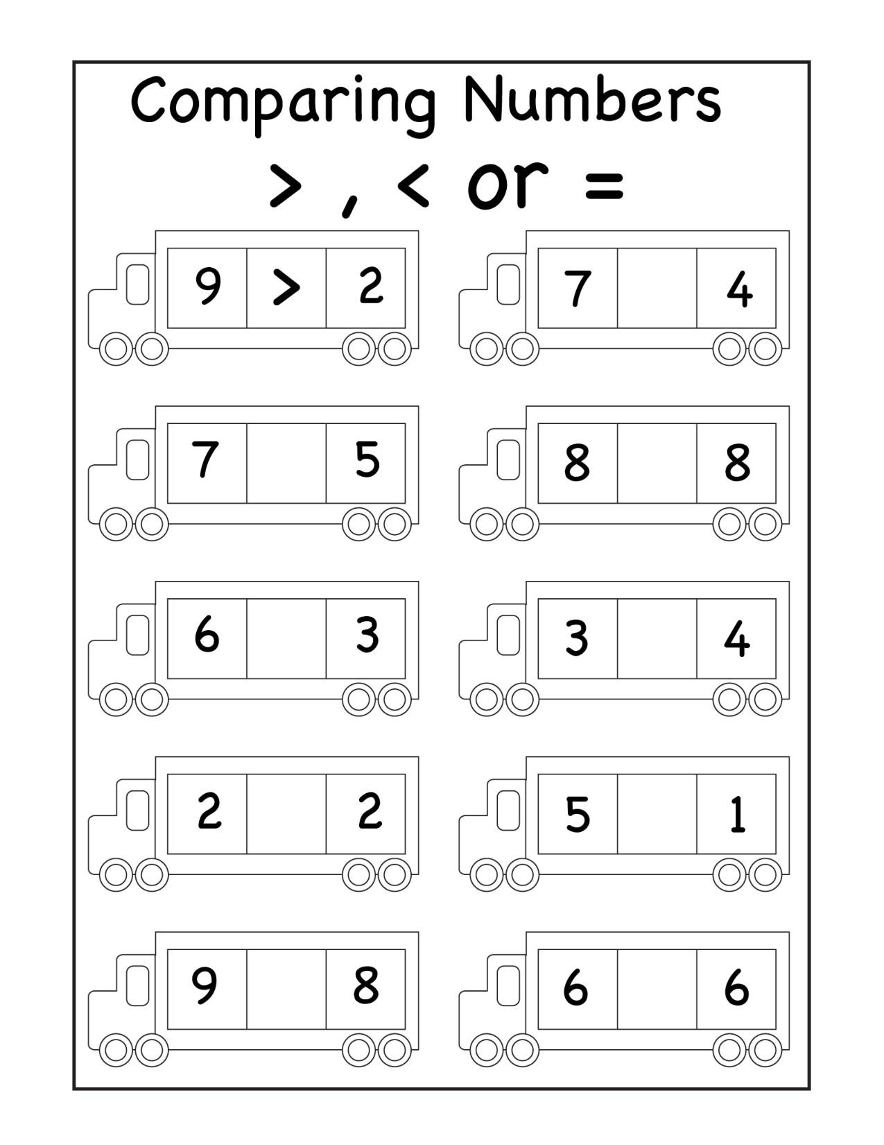 Comparing Numbers Worksheets 2nd Grade Paring Archives