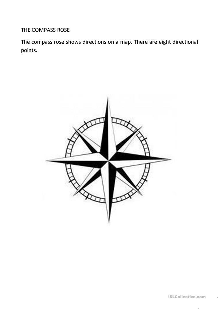 Compass Rose Worksheets Middle School Clil Geography In English English Esl Worksheets for
