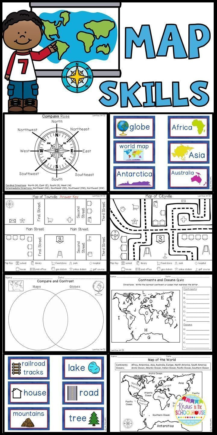 Compass Rose Worksheets Middle School Map Skills Worksheets and Activities