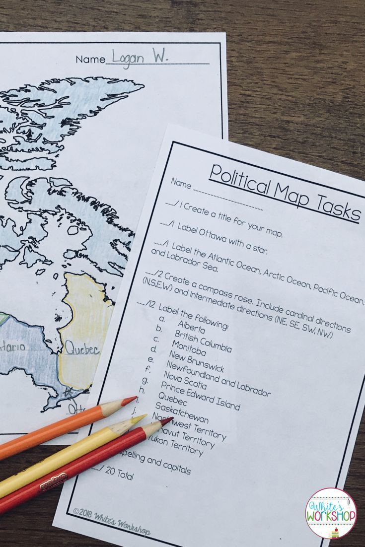 Compass Rose Worksheets Middle School Students Will Learn About the Geography Of Canada with these