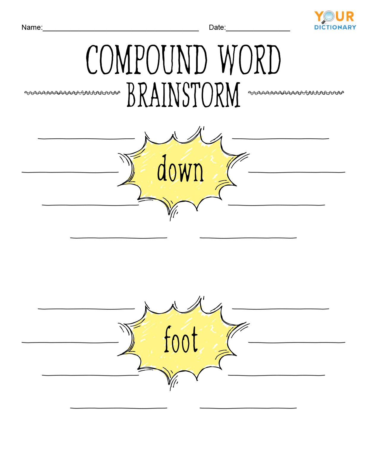 Compound Word Worksheet 2nd Grade Fun Exercises for Pound Words