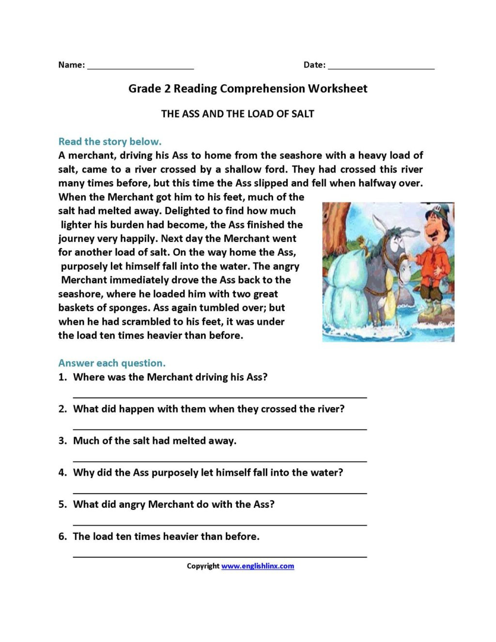 Comprehension Worksheets for Grade 6 Worksheet Extraordinary Year Prehension Worksheets