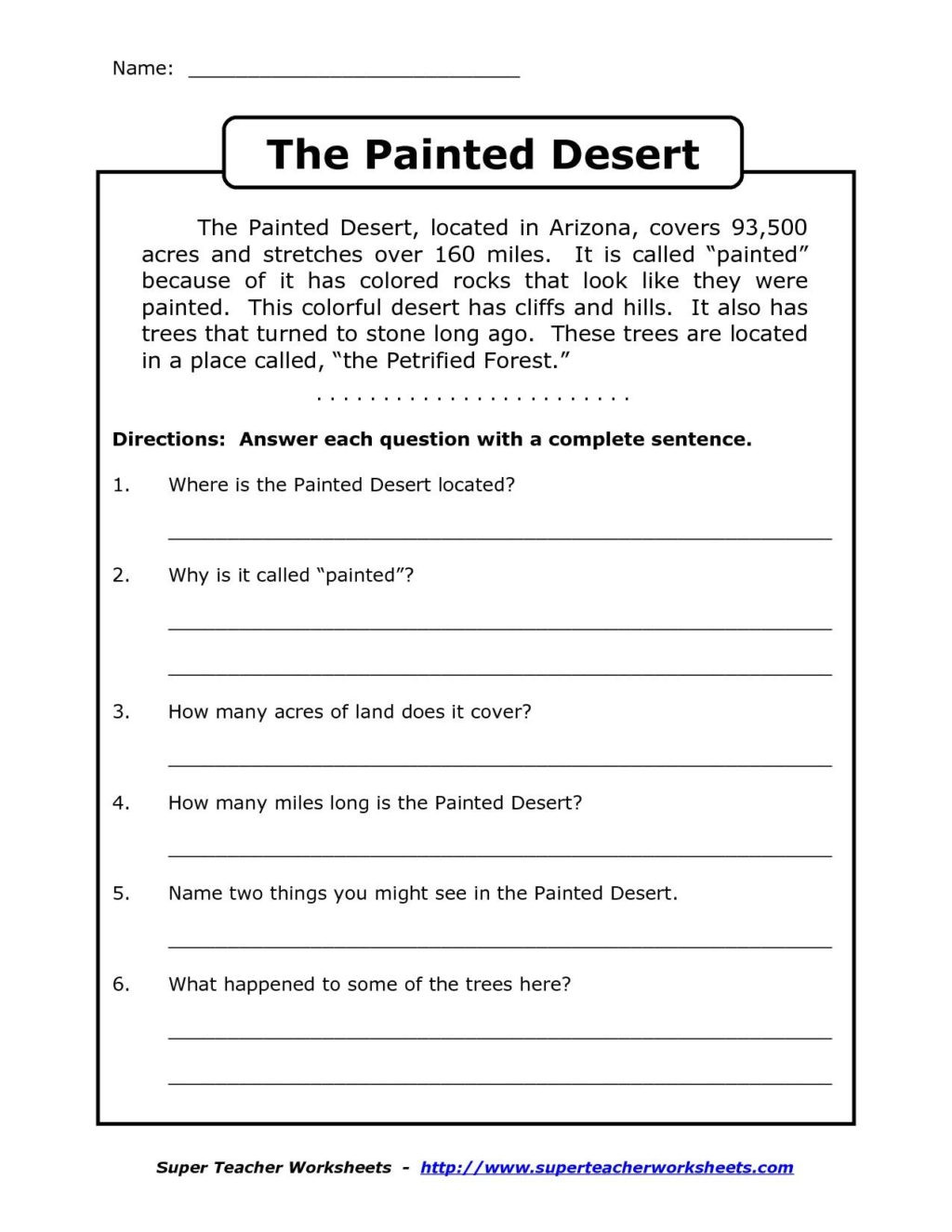 Comprehension Worksheets for Grade 6 Worksheet Staggering 3rd Grade Reading Prehension
