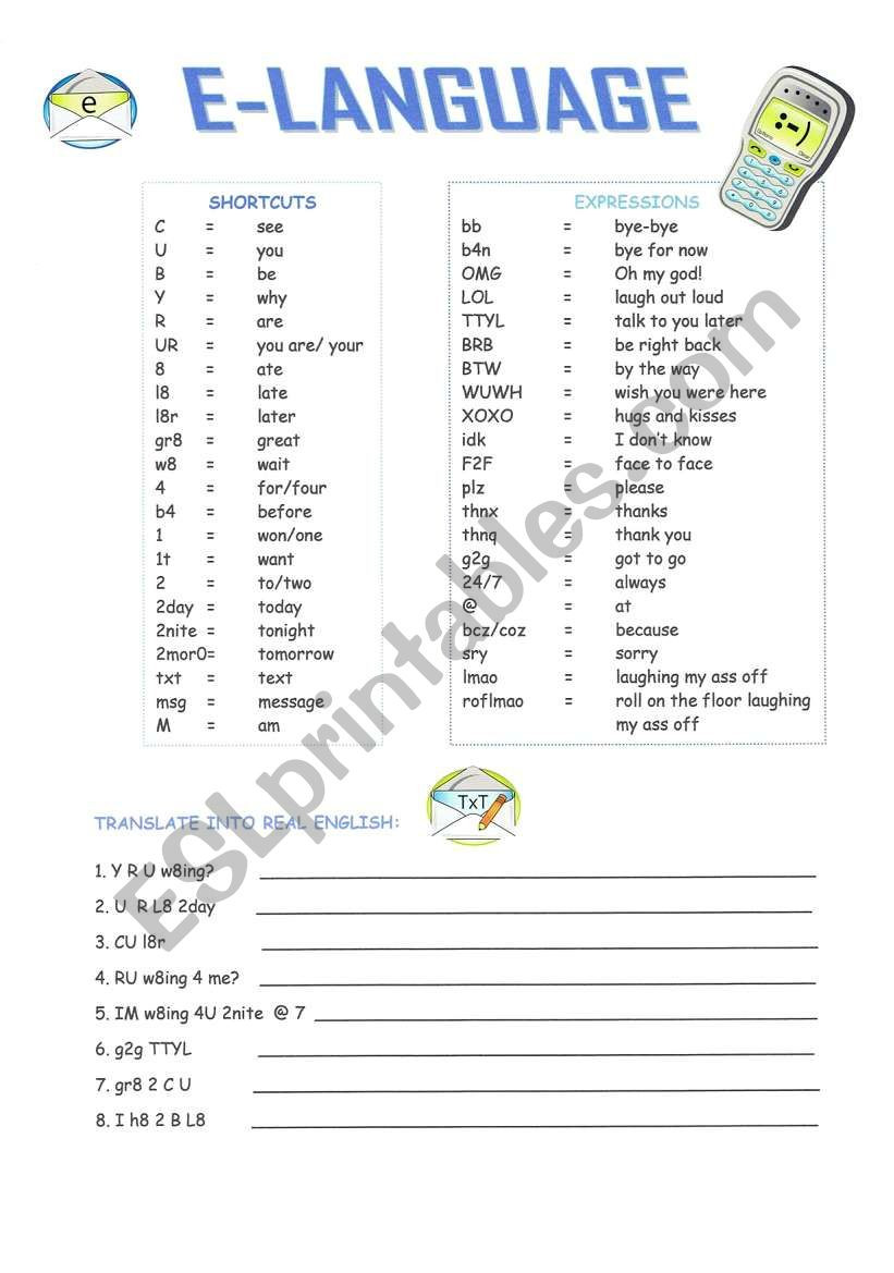 Computer Worksheets for Middle School Puter English Esl Worksheet by Mariong