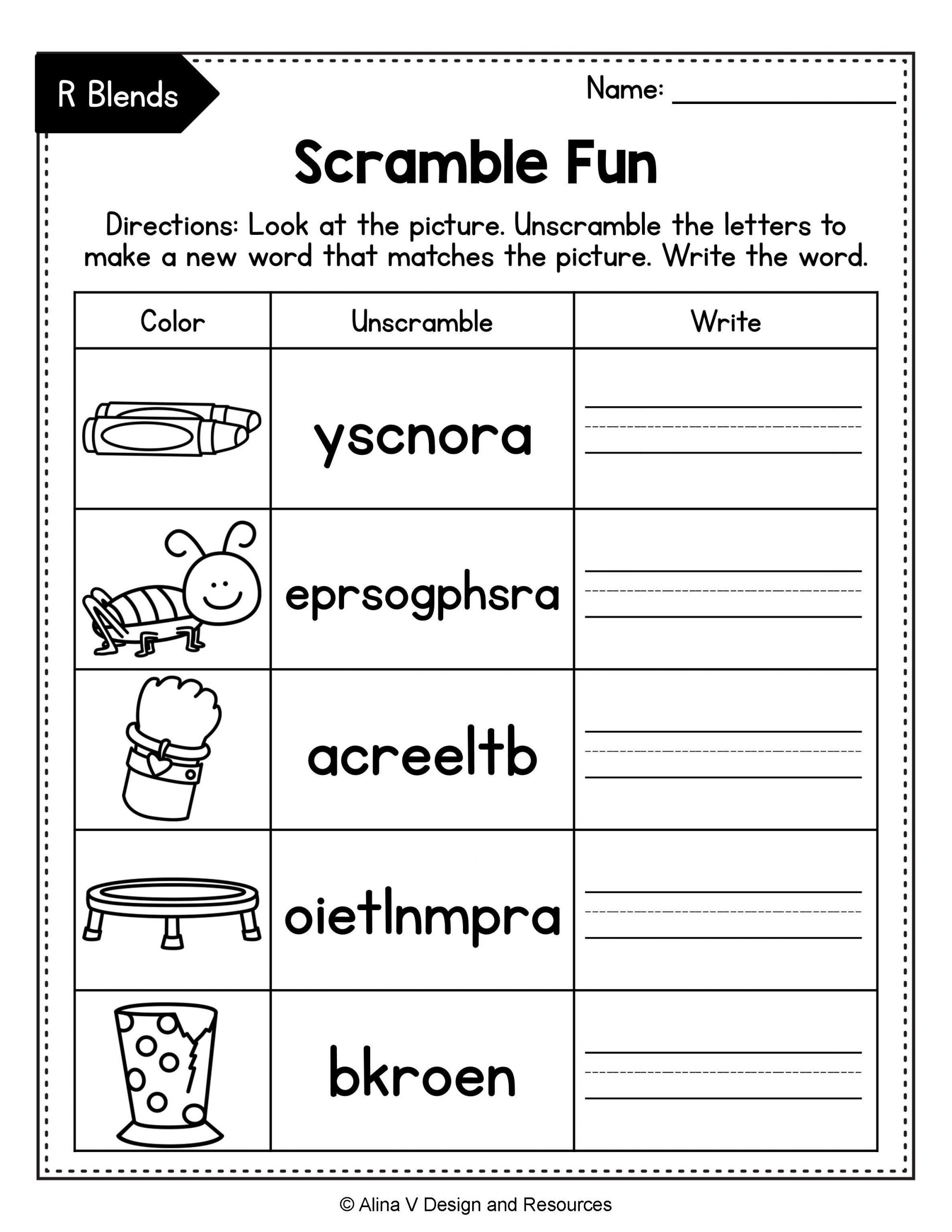 Consonant Blends Worksheets 3rd Grade Pin On Pk 3rd Resources