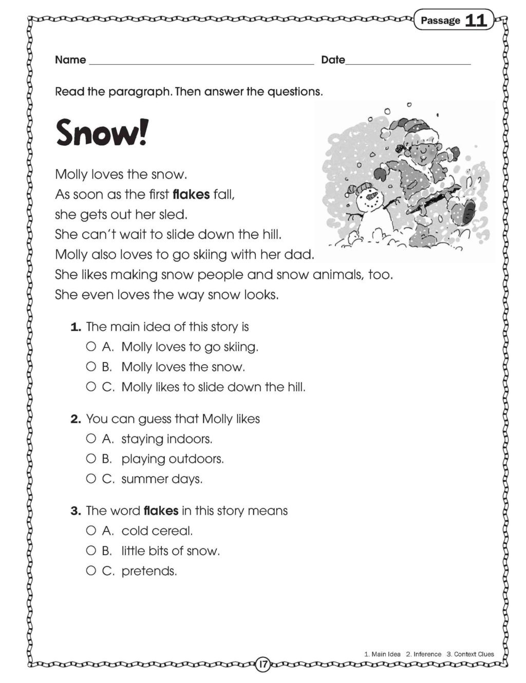 Context Clues 5th Grade Worksheets Worksheet Free Printable Reading Worksheets for Kids 5th