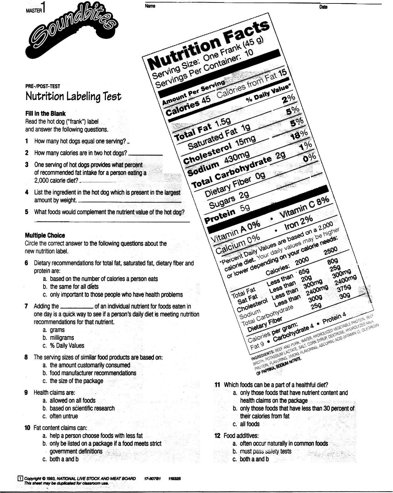 Cooking Worksheets for Middle School 4th Grade Math Curriculum Homeschool Print Selected