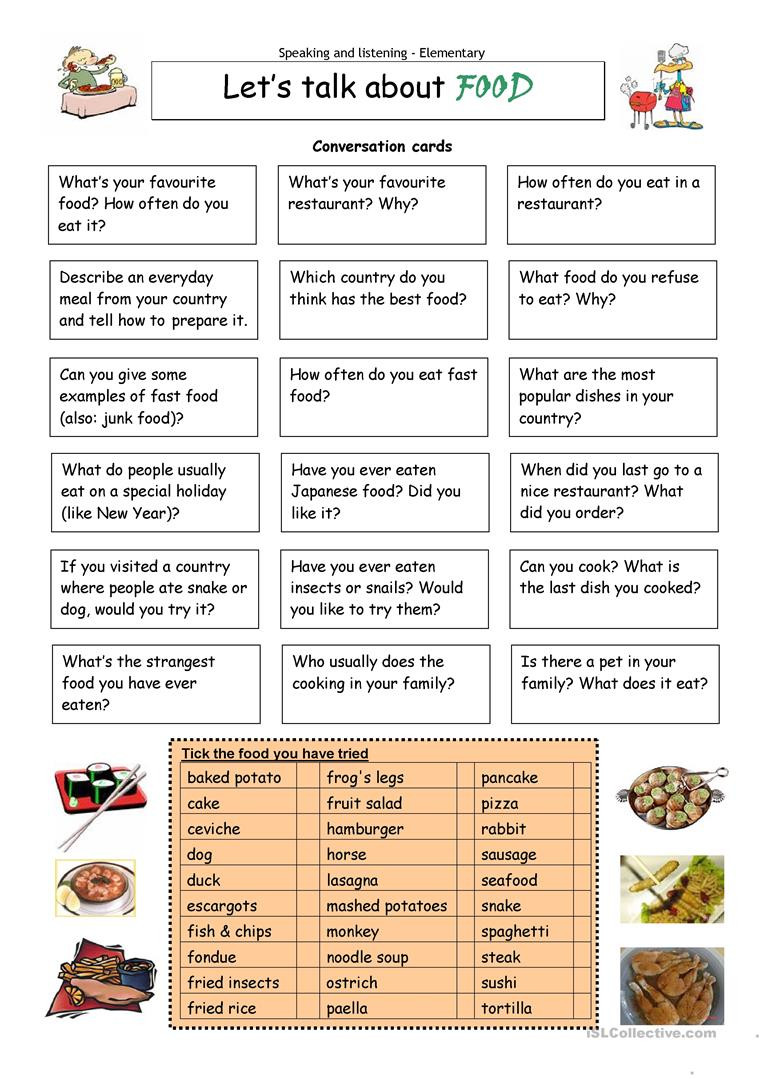 Cooking Worksheets for Middle School English Esl Food Worksheets Most Ed 1452 Results