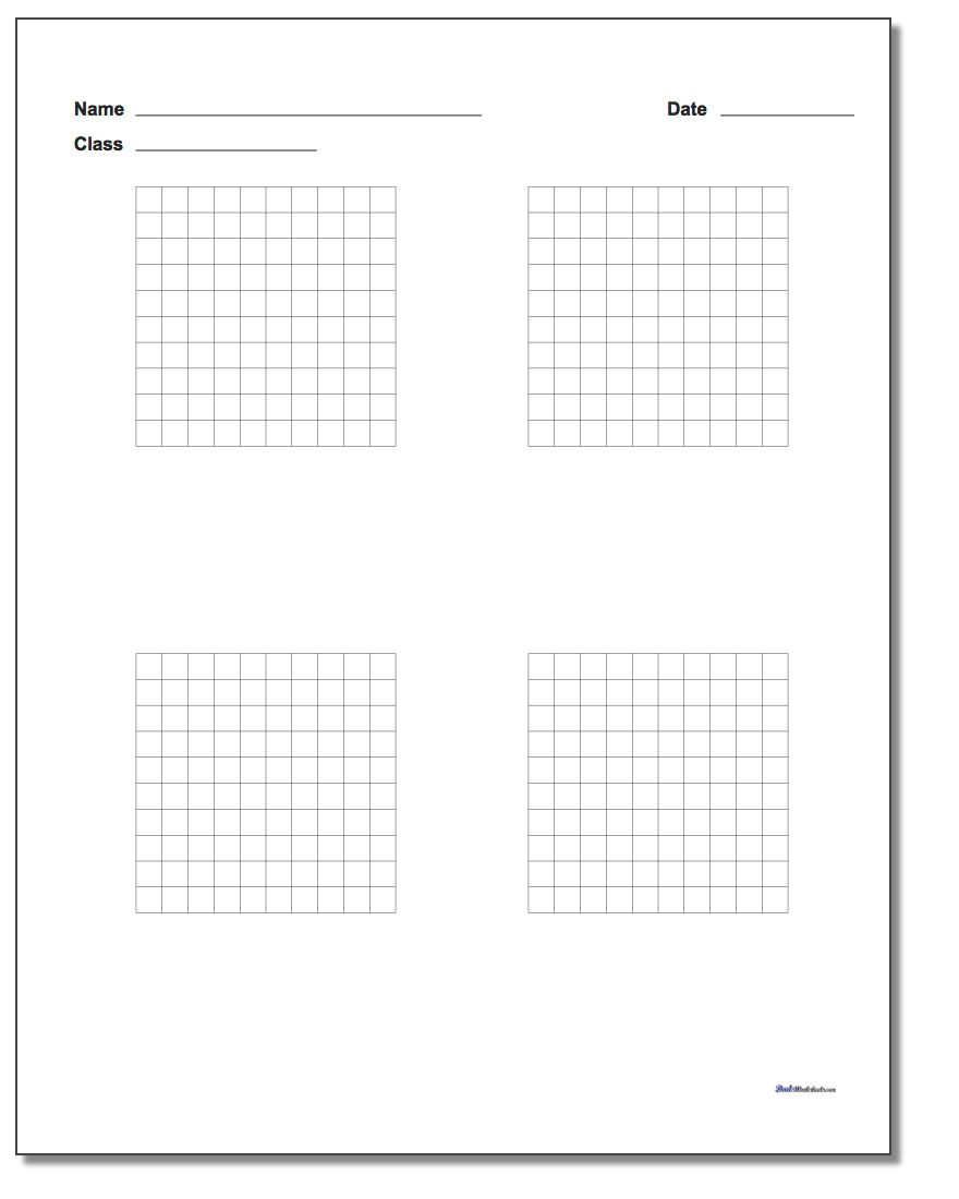 Coordinate Grid Worksheets 5th Grade Printable Graph Paper with Name Block