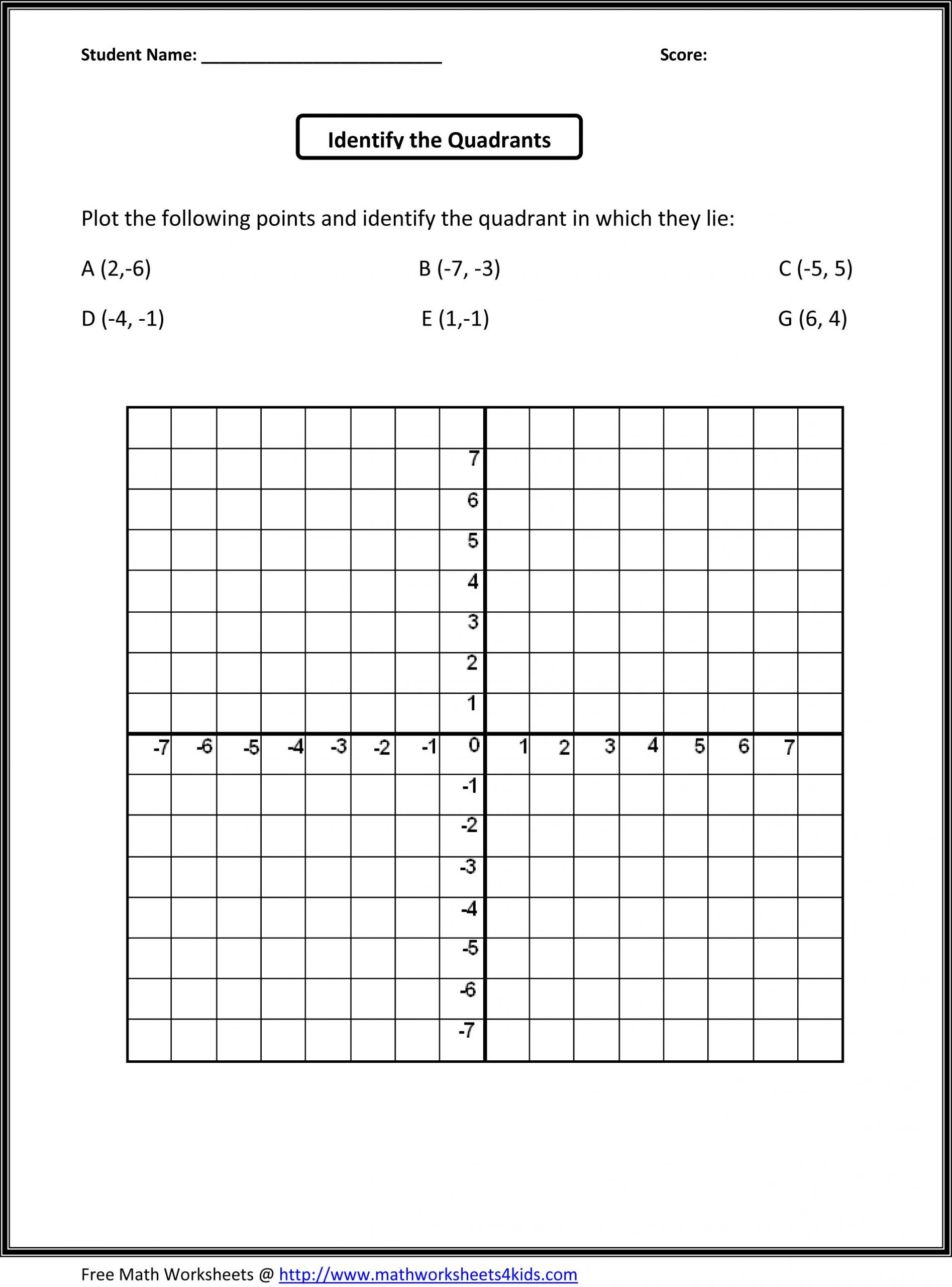 Coordinate Plane Worksheet 5th Grade 5th Grade Math Worksheet
