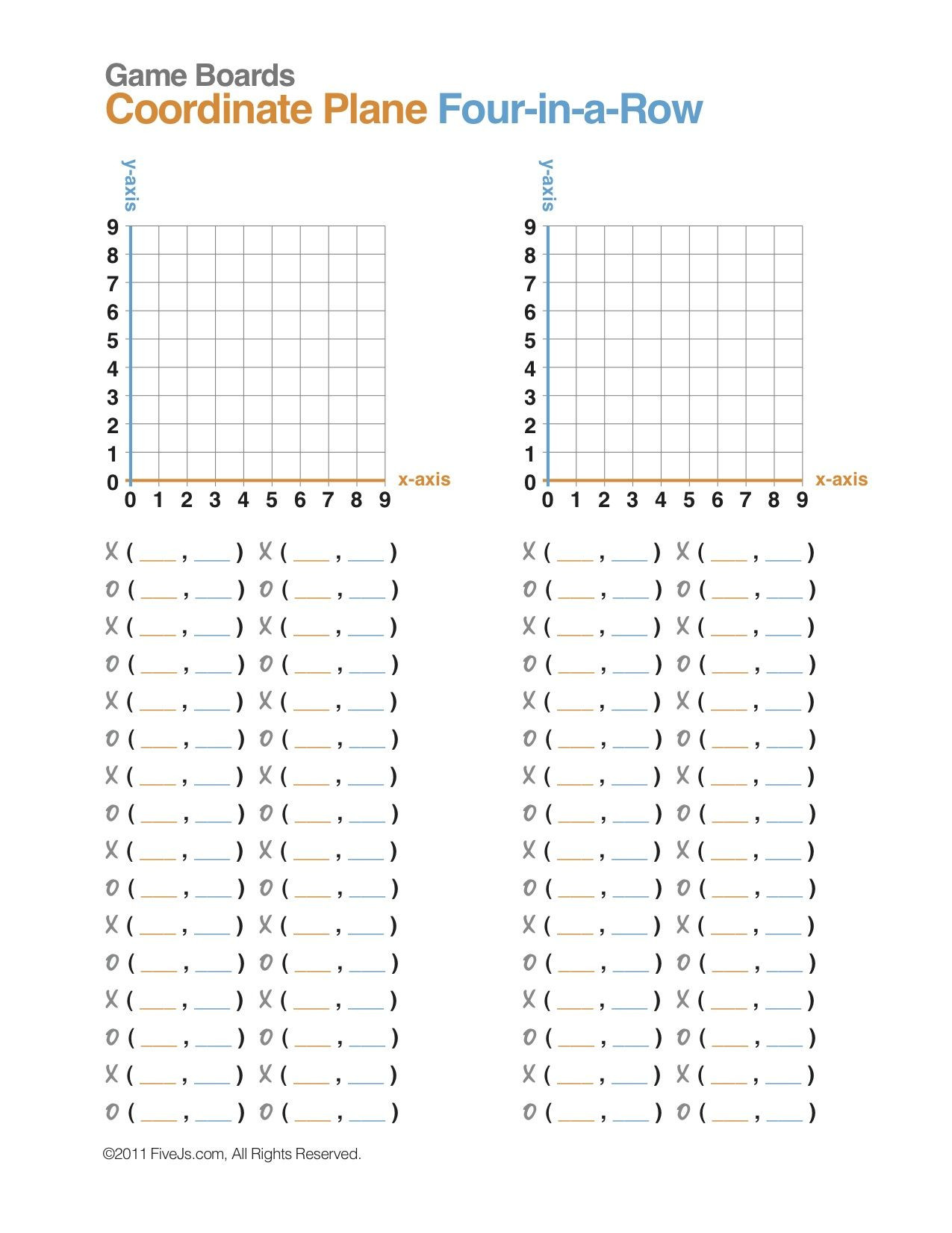 Coordinate Plane Worksheet 5th Grade Easy Coordinates Worksheets