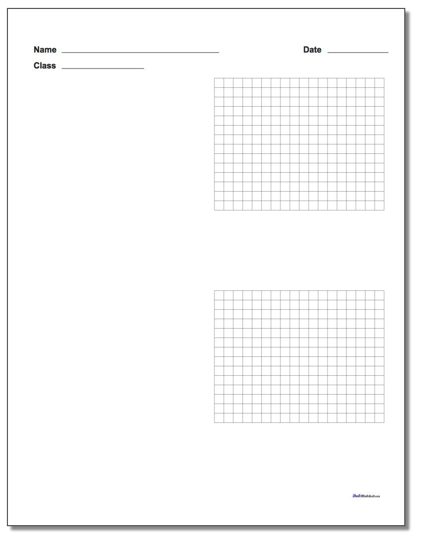 Coordinate Plane Worksheet 5th Grade Printable Graph Paper with Name Block