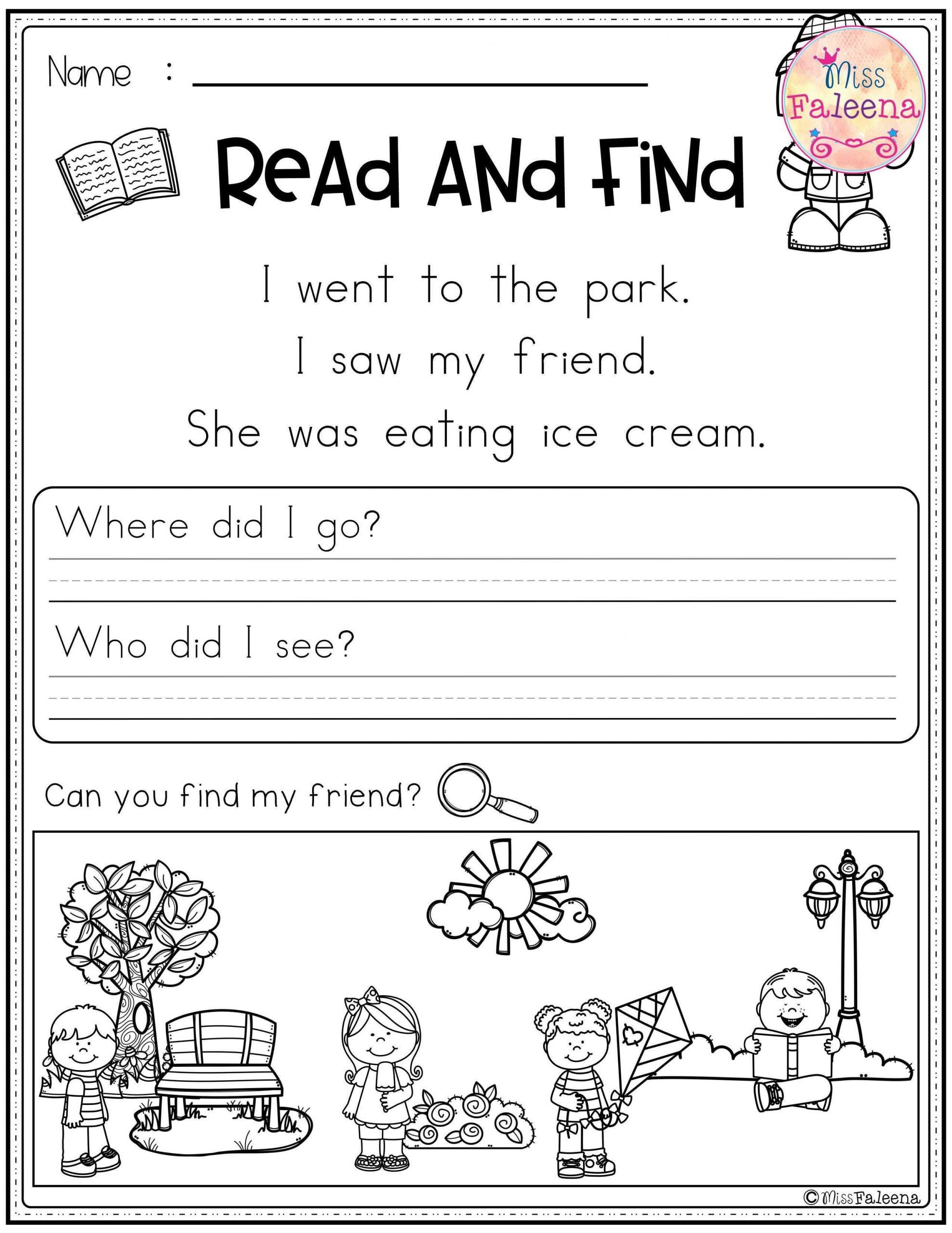 Decoding Worksheets for 1st Grade 4 Worksheet Reading Prehension Worksheets First Grade 1