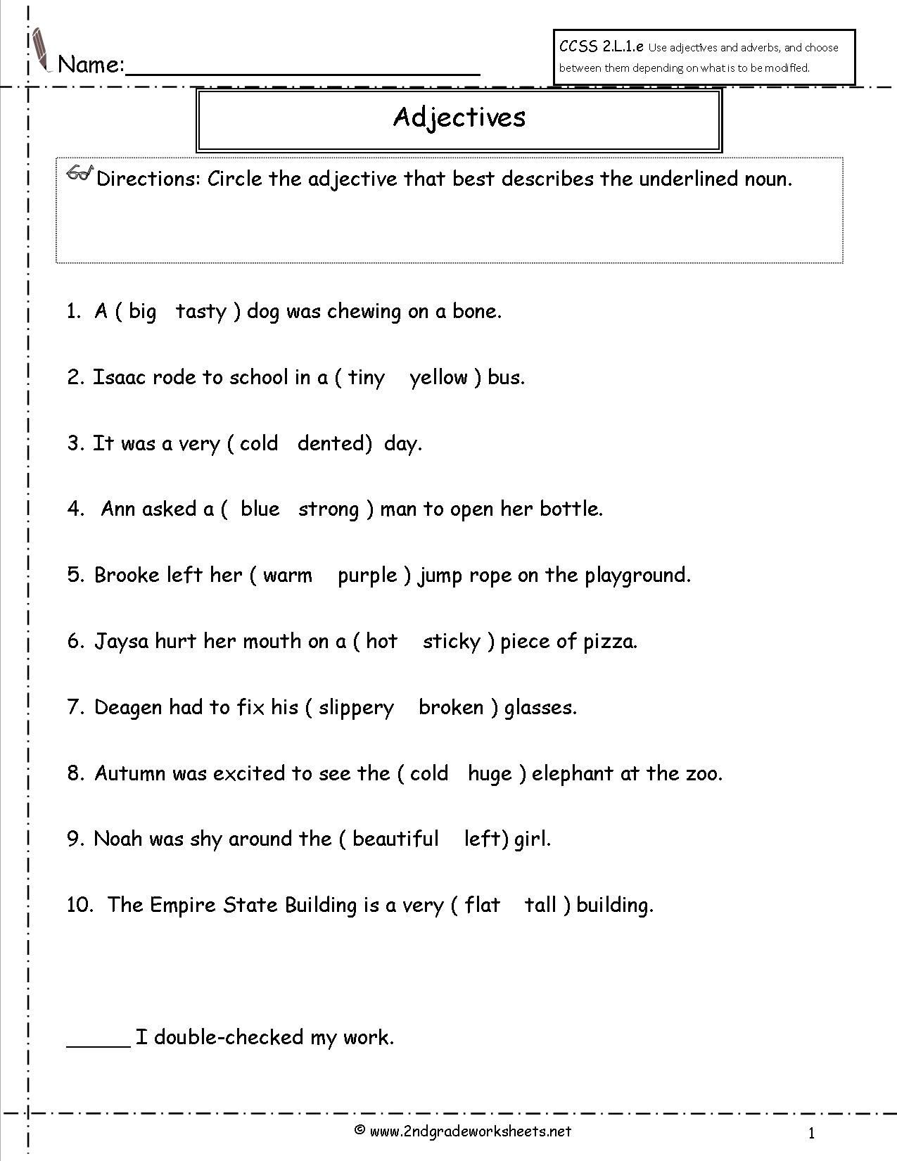 Decomposing Fractions Worksheets 4th Grade Adjective Worksheets 4th Grade