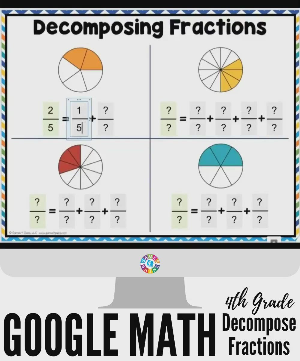 Decomposing Fractions Worksheets 4th Grade Pin On Math Fractions