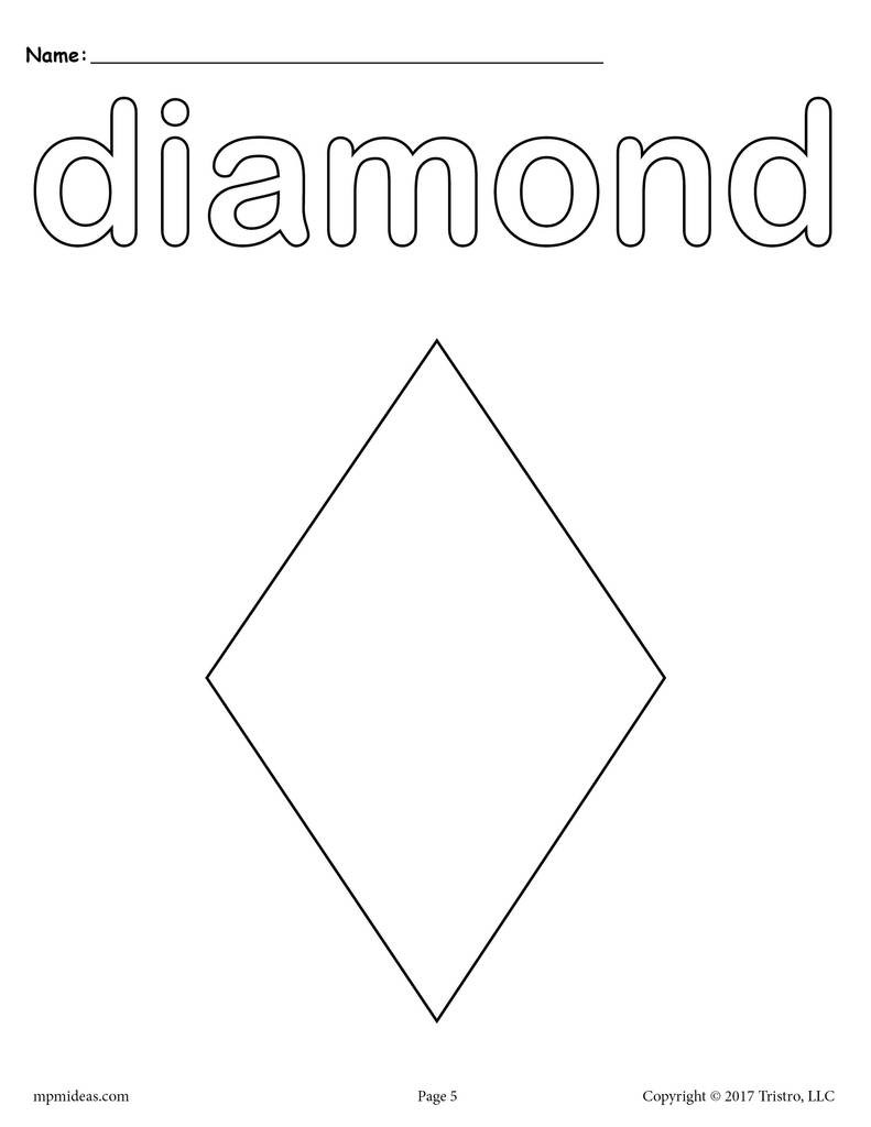 Diamond Worksheets for Preschool 8 Diamond Worksheets Tracing Coloring Pages Cutting & More