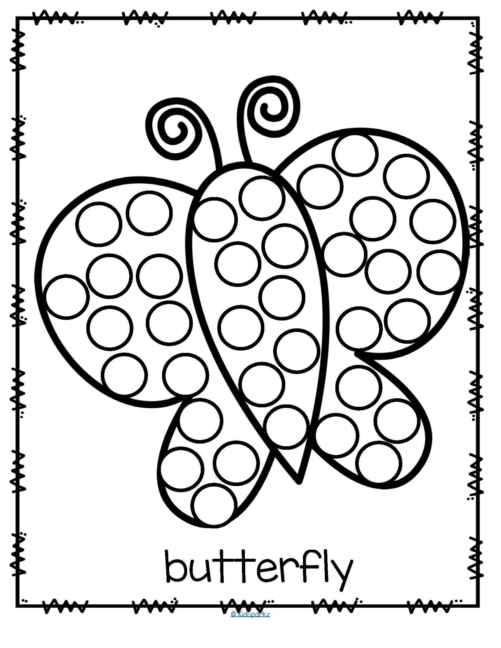 26 Free Printable Dot Marker Templates Butterfly Do A Dot