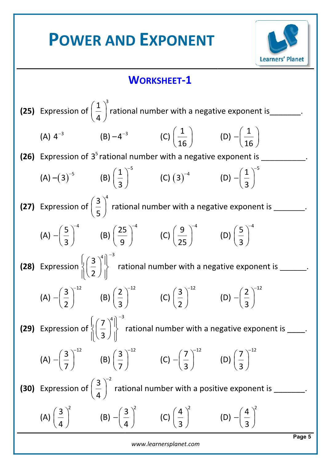 Doubles Math Worksheets 8th Math Cbse Exponents and Powers Worksheets Games for Year