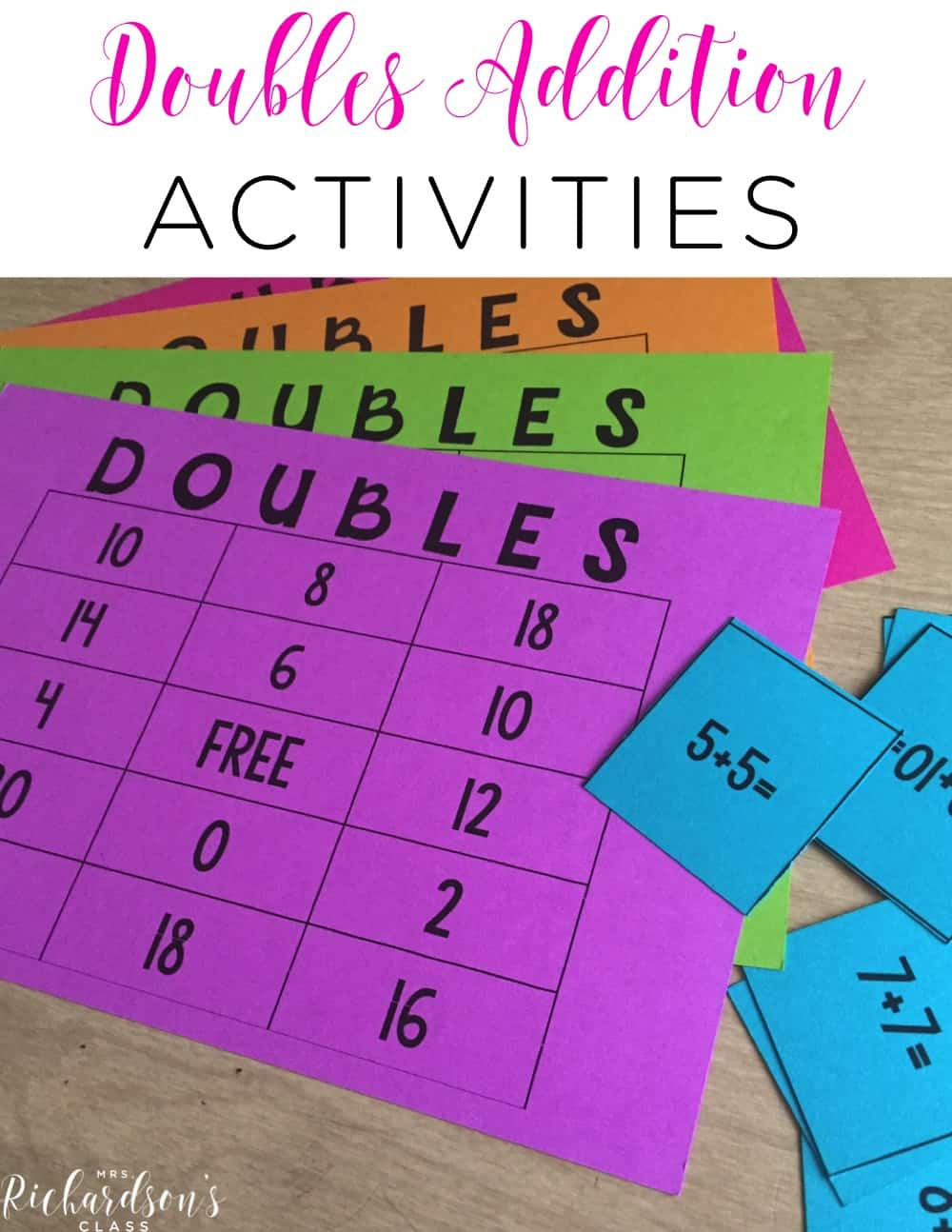 Doubles Rap Printable 3 Activities to Makes Doubles Addition Fun Freebie