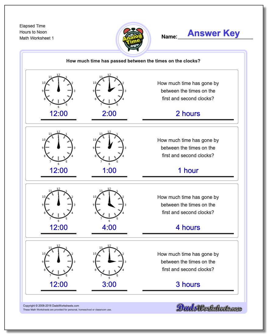 Elapsed Time 3rd Grade Worksheets Analog Elapsed Time