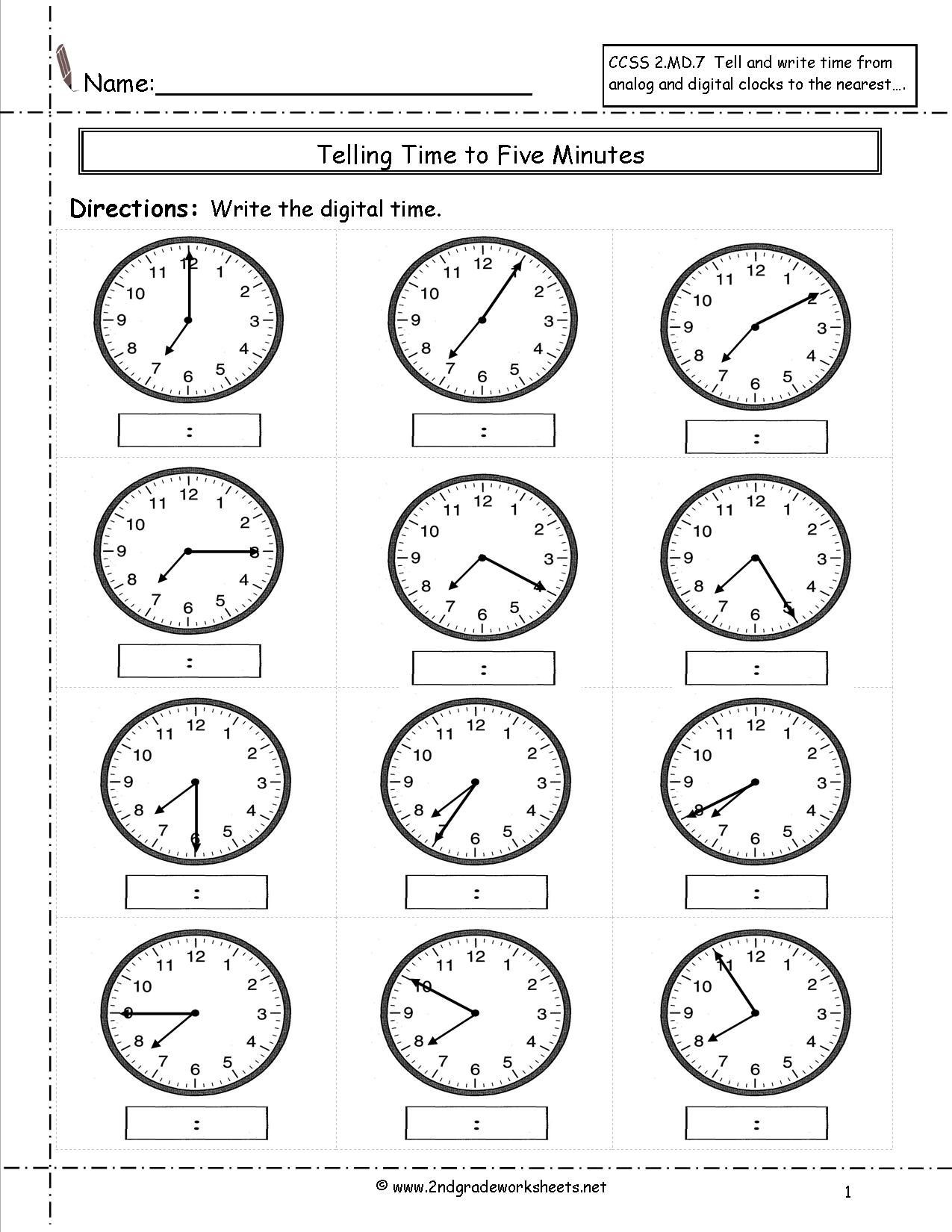 Elapsed Time 3rd Grade Worksheets Telling Time Worksheets 3rd Grade