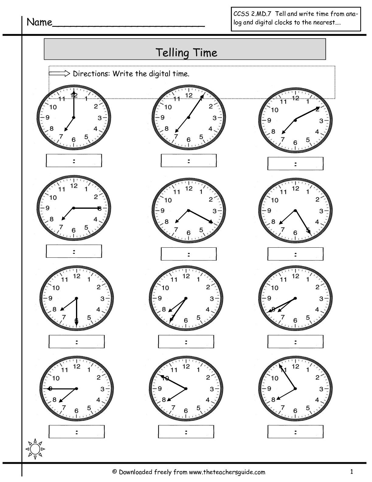 Elapsed Time 3rd Grade Worksheets Telling Time Worksheets From the Teacher S Guide