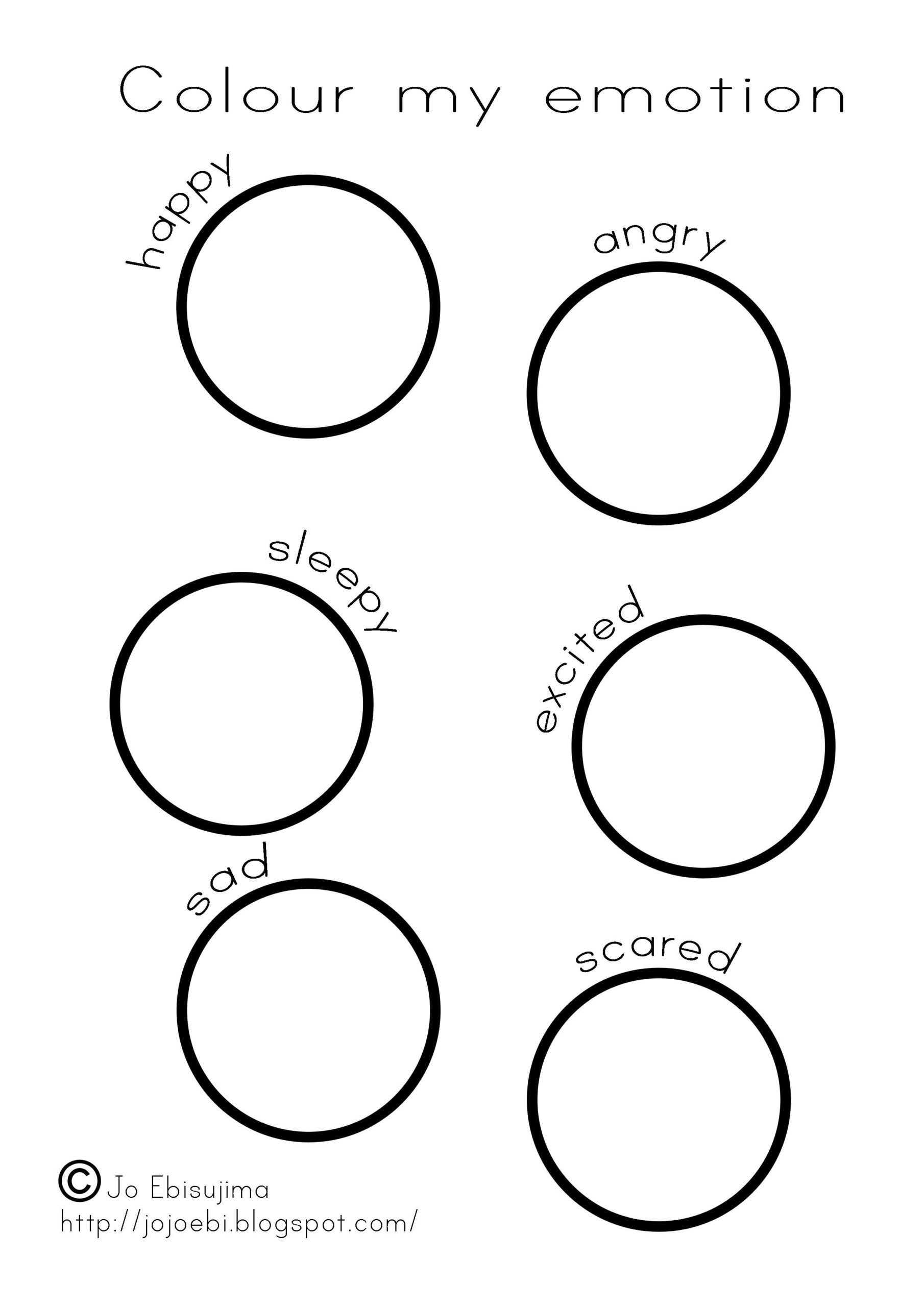 Emotions Worksheets for Preschoolers Colour My Emotion Emotions Color Emotionally Focused therapy