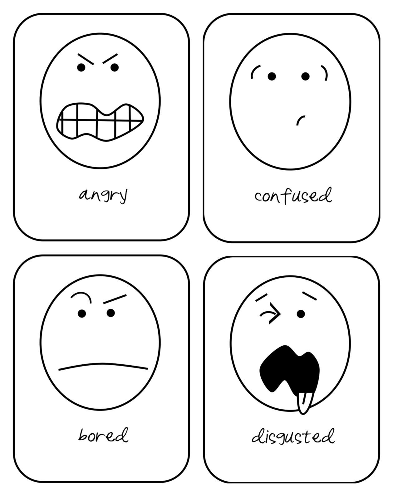 Emotions Worksheets for Preschoolers Expressing Feelings Printable Worksheets for Kids