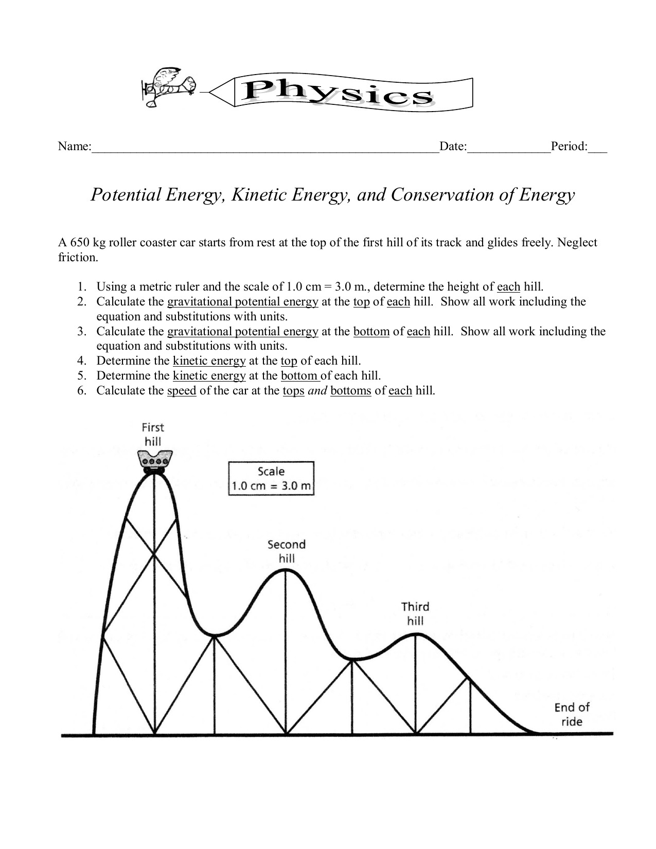 Energy Worksheets Middle School Pdf Kinetic and Potential Energy Worksheet Ks2