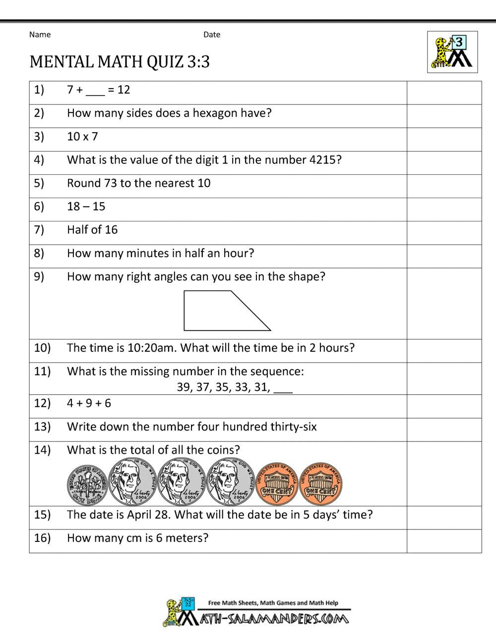 Everyday Math 4th Grade Worksheets Pin On S