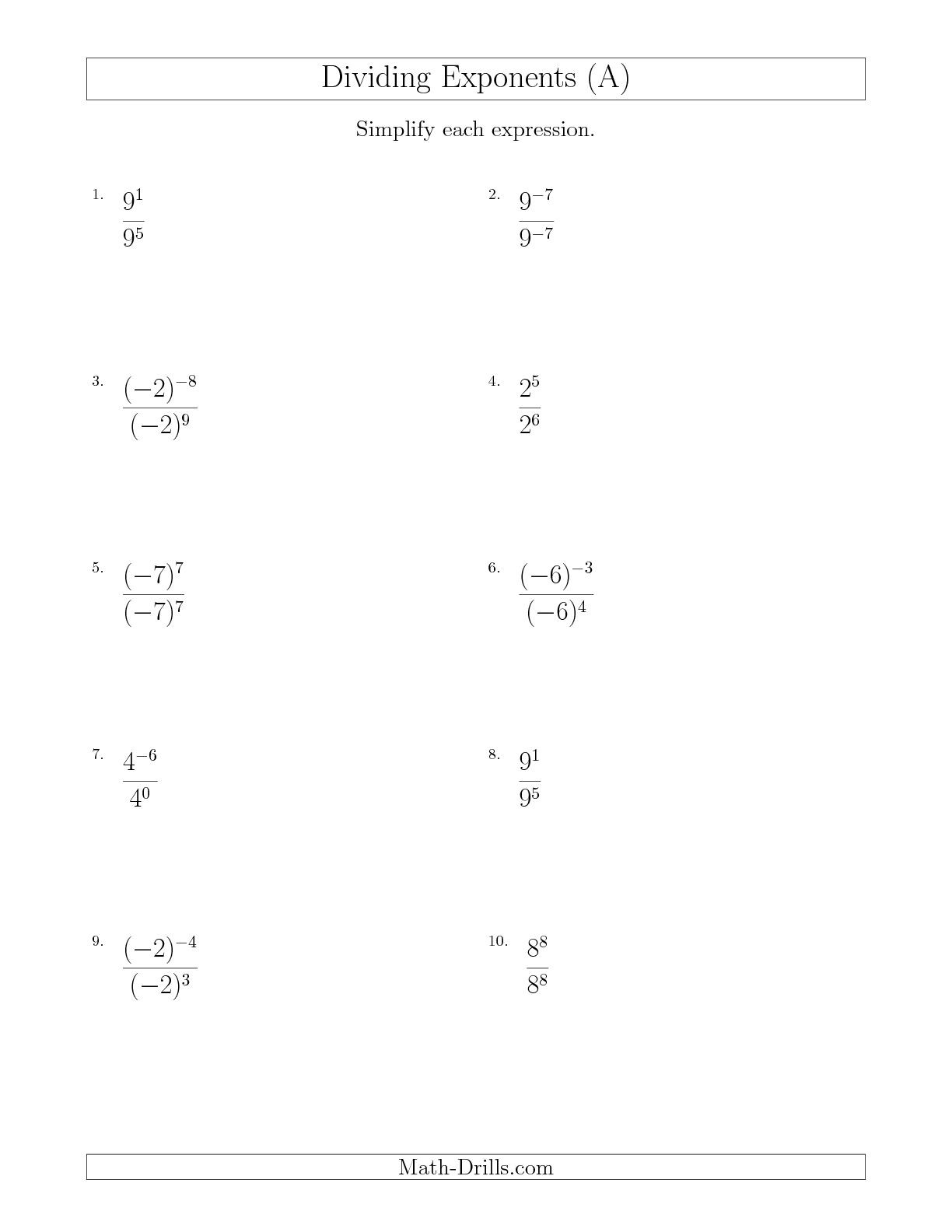 Exponents Worksheets 6th Grade Pdf Positive and Negative Numbers Worksheets Pdf