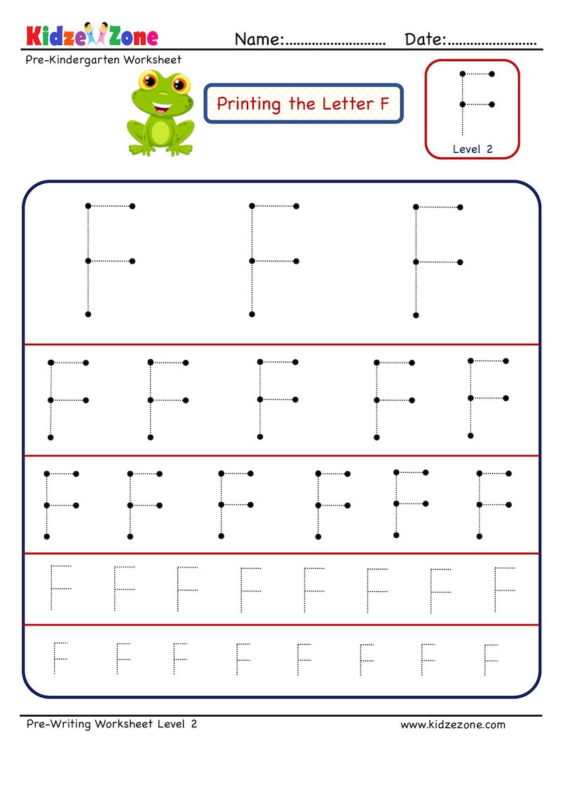 F Worksheets for Preschool Preschool Letter Tracing Worksheet Letter F Different