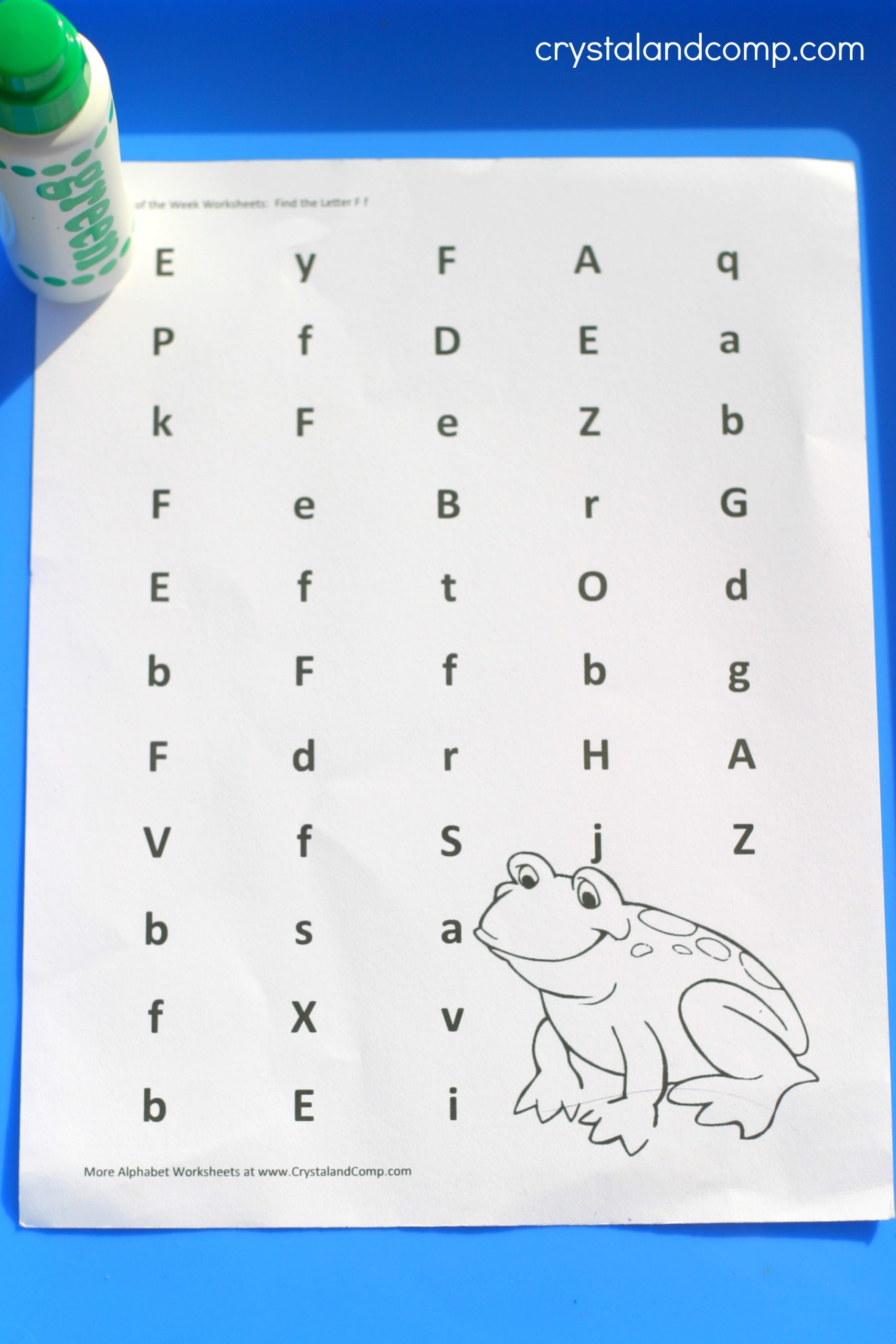 F Worksheets for Preschool Preschool Letter Worksheets F is for Frog