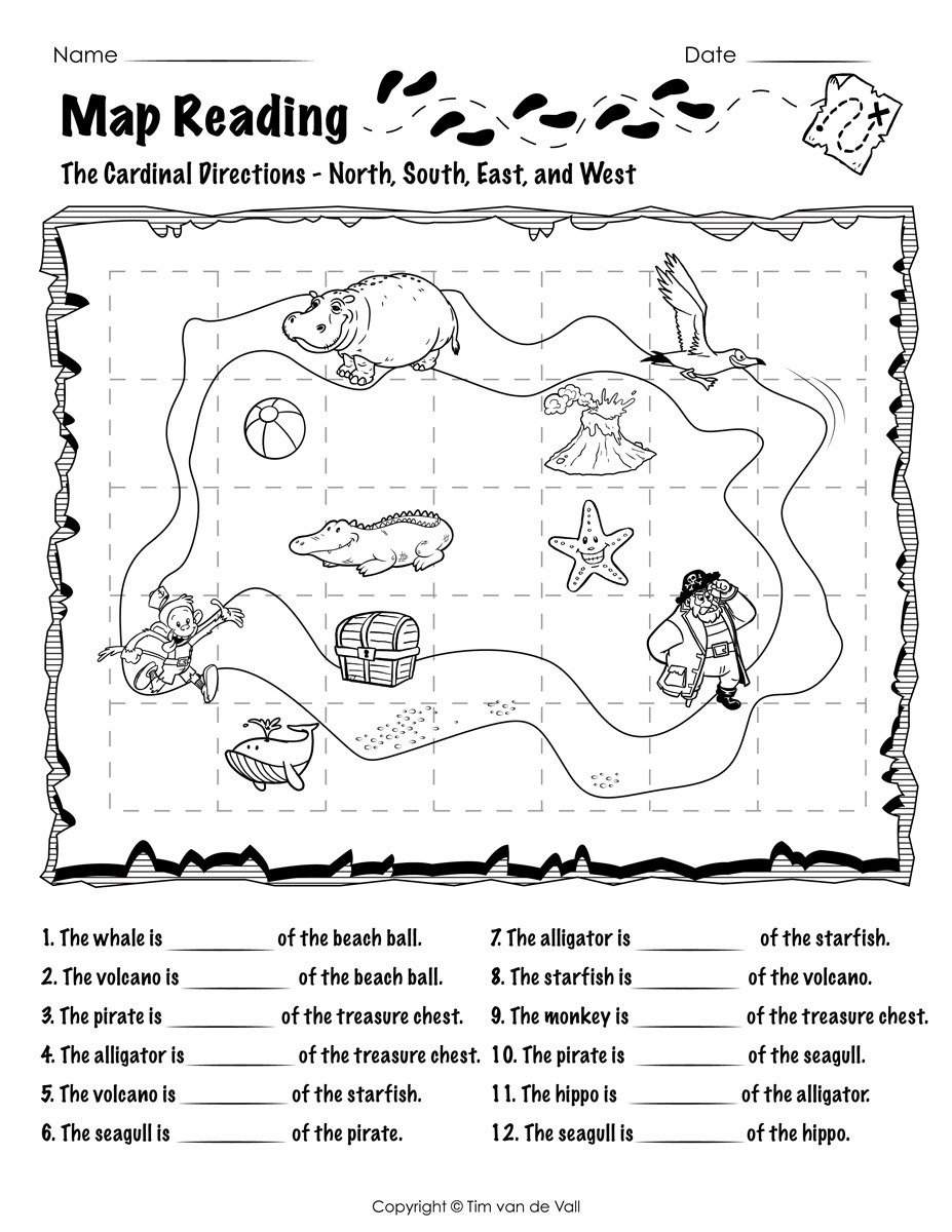 First Grade Map Skills Worksheets Worksheet First Gradeng Practice Picture Inspirations