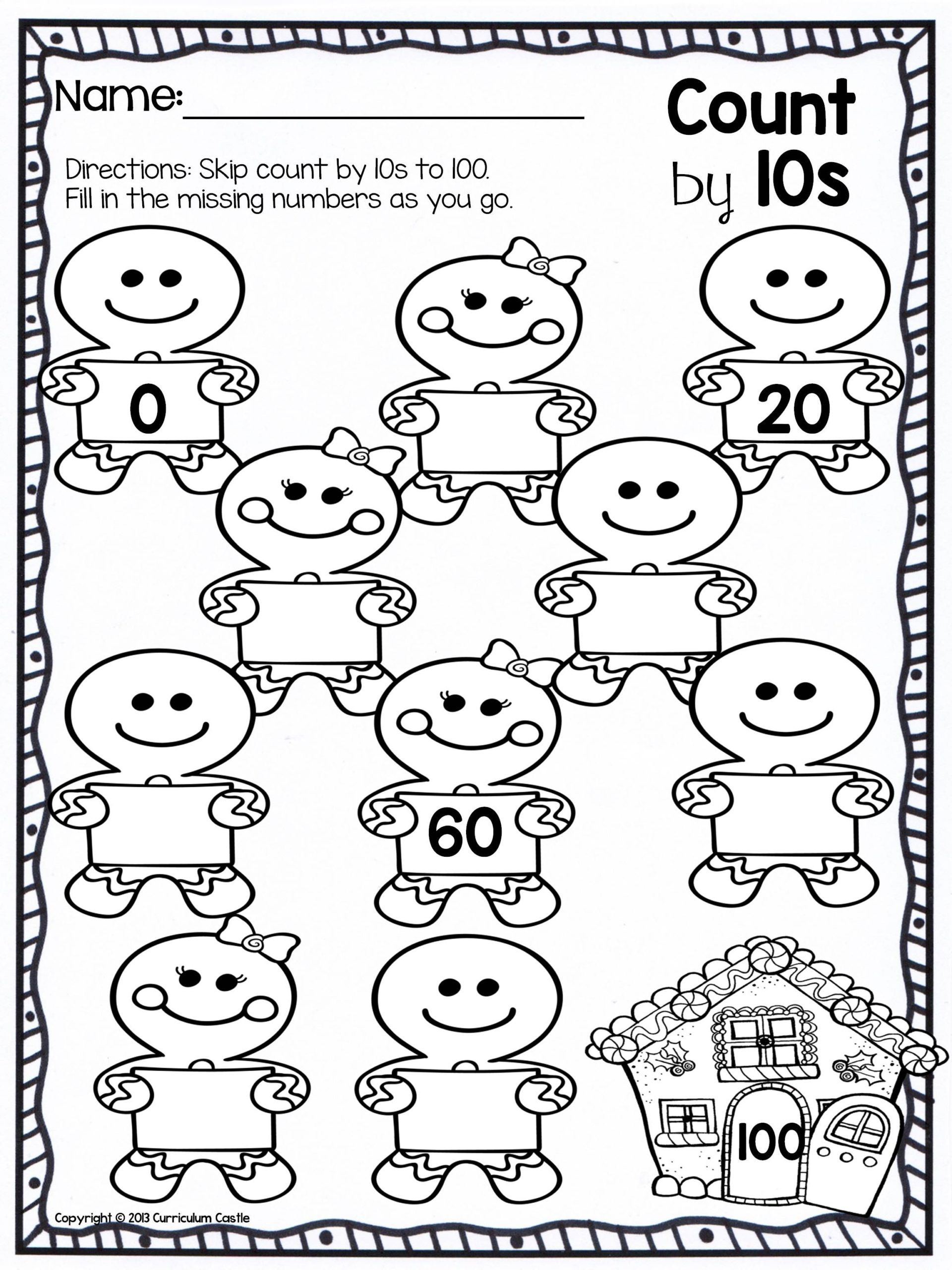 First Grade Skip Counting Worksheets Christmas Skip Counting Freebie Kindergarten Worksheets Free