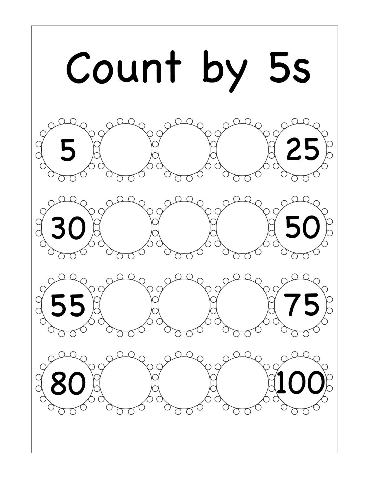 First Grade Skip Counting Worksheets Skip Counting Archives