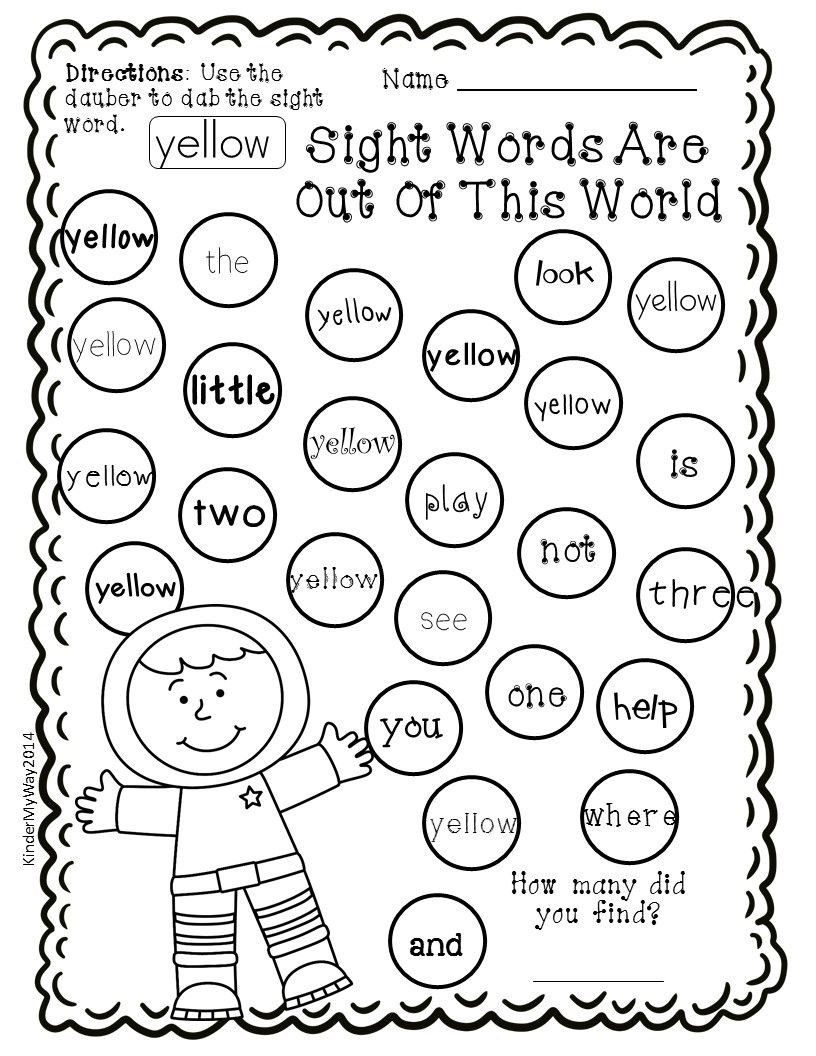 First Grade social Studies Worksheets Sight Word Dauber Printables Pre Primer Edition 40 Pages