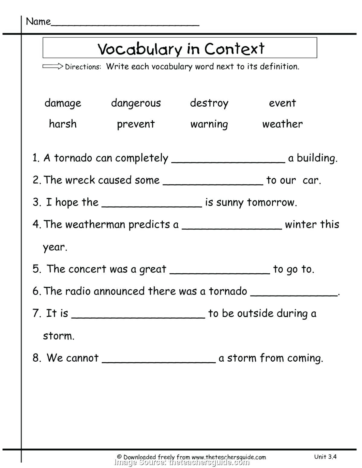 First Grade Vocabulary Worksheets 1st Grade Vocabulary Newest Vocabulary Lesson Plans Grade
