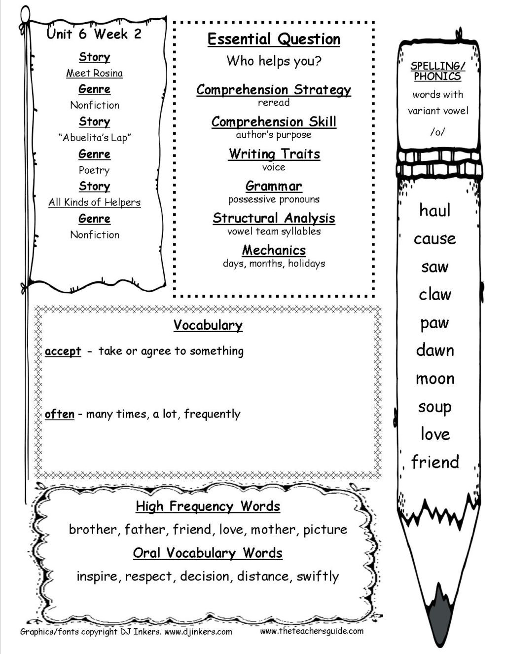 First Grade Vocabulary Worksheets Worksheet Unitsixweektwottg 1st Grade Vocabulary Barka