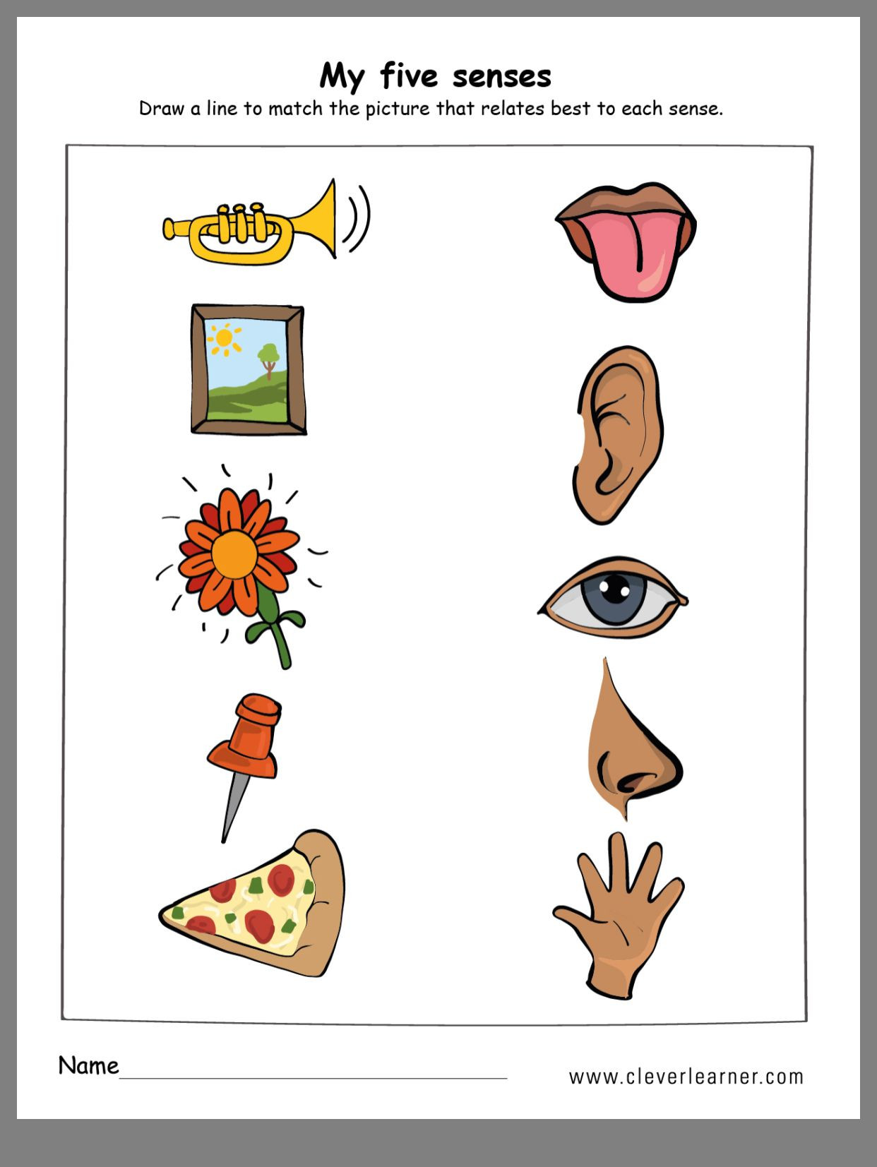 Five Senses Worksheets Preschool Pin by Wenshan Liang On All About Me