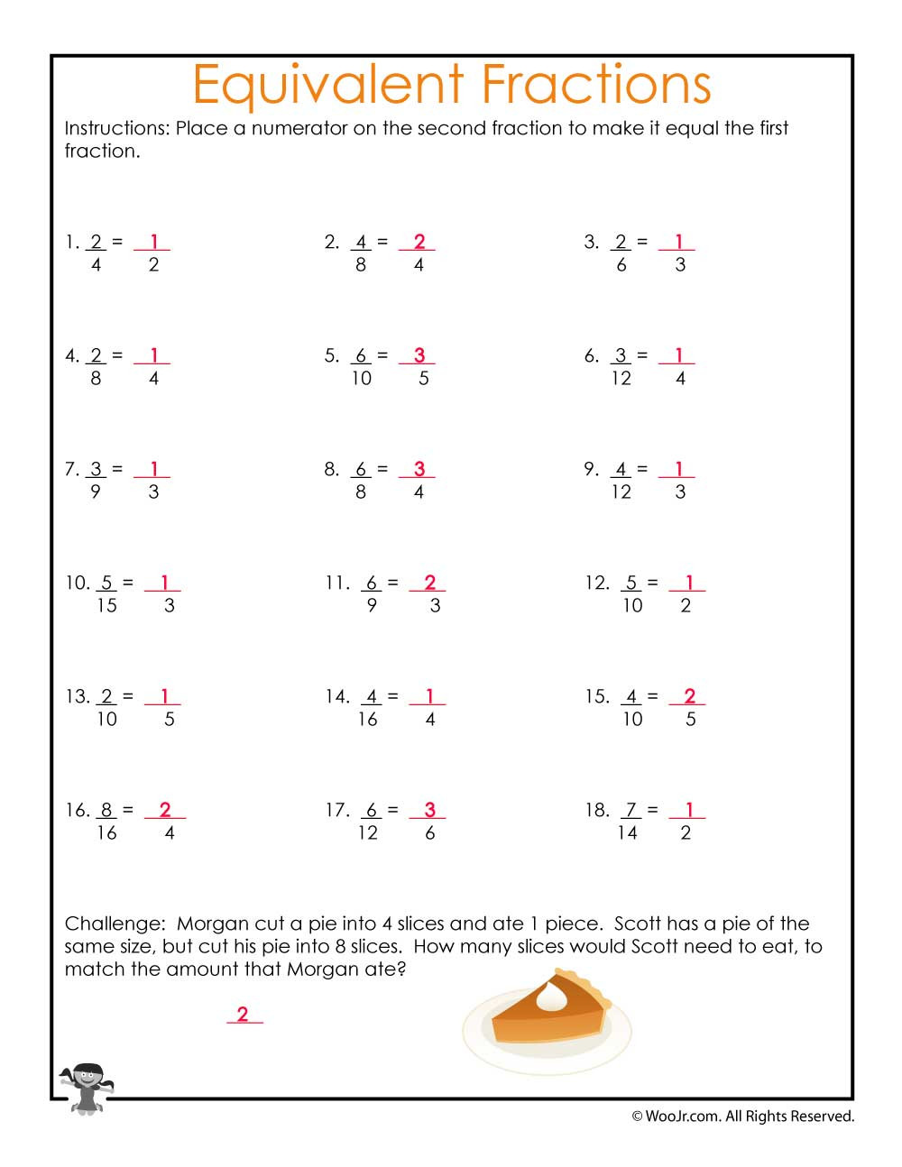 Fractions Worksheets Grade 4 Pdf Equivalent Fractions Equations Worksheet Answers
