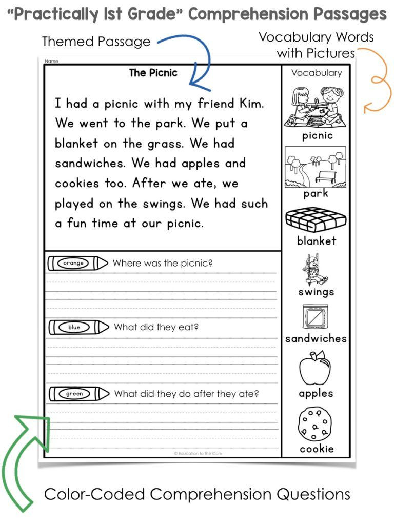 Free 1st Grade Comprehension Worksheets First Grade Reading Prehension Worksheets Pdf Free