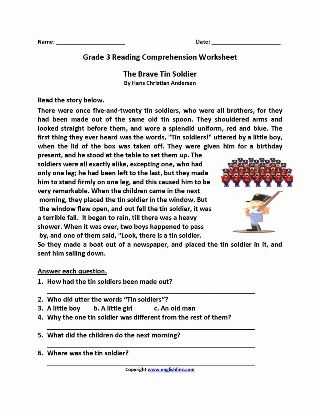 Free 2nd Grade Comprehension Worksheets Worksheet Free 2nd Grade Reading Prehension