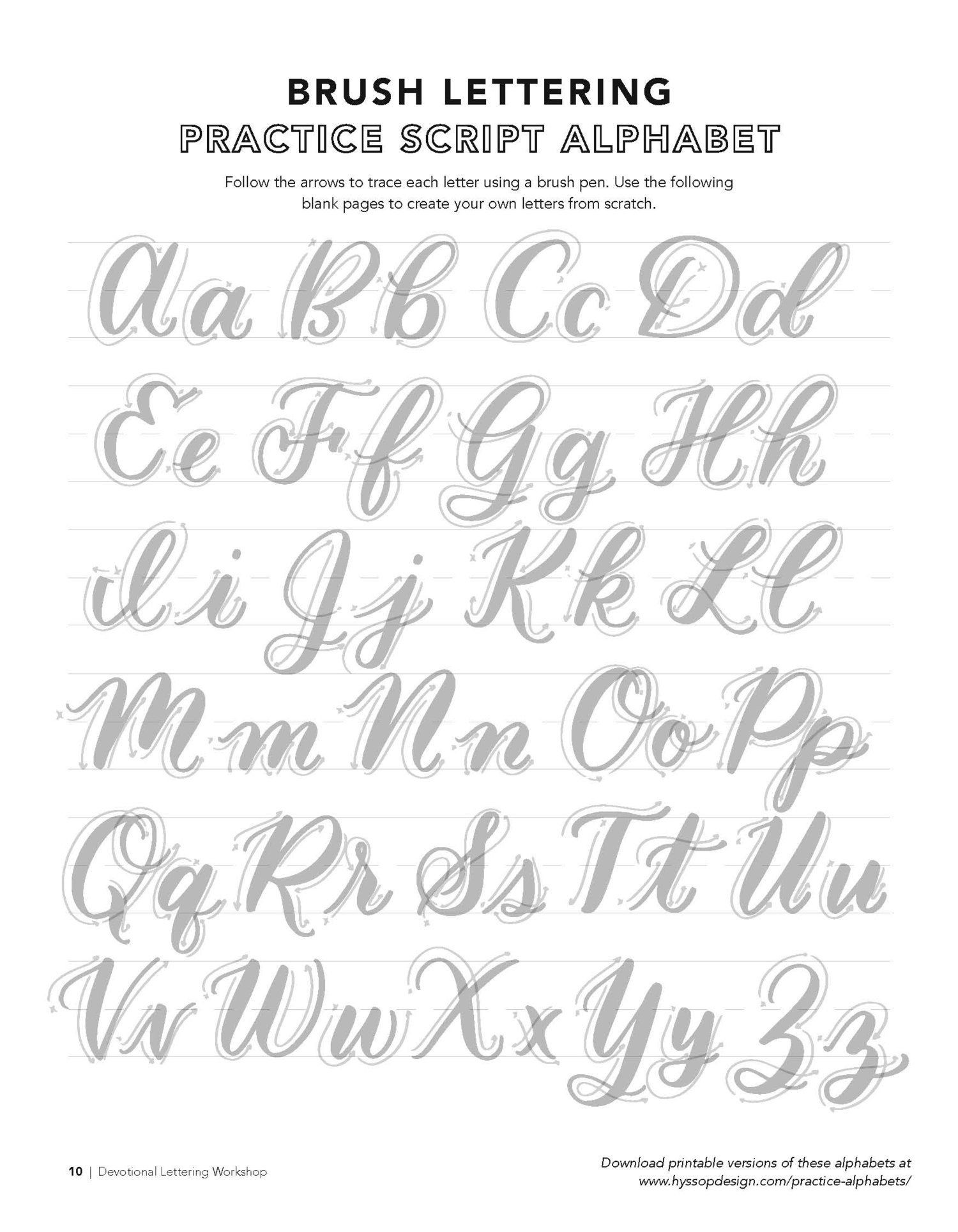 Free Calligraphy Worksheets Printable Example P Page 10