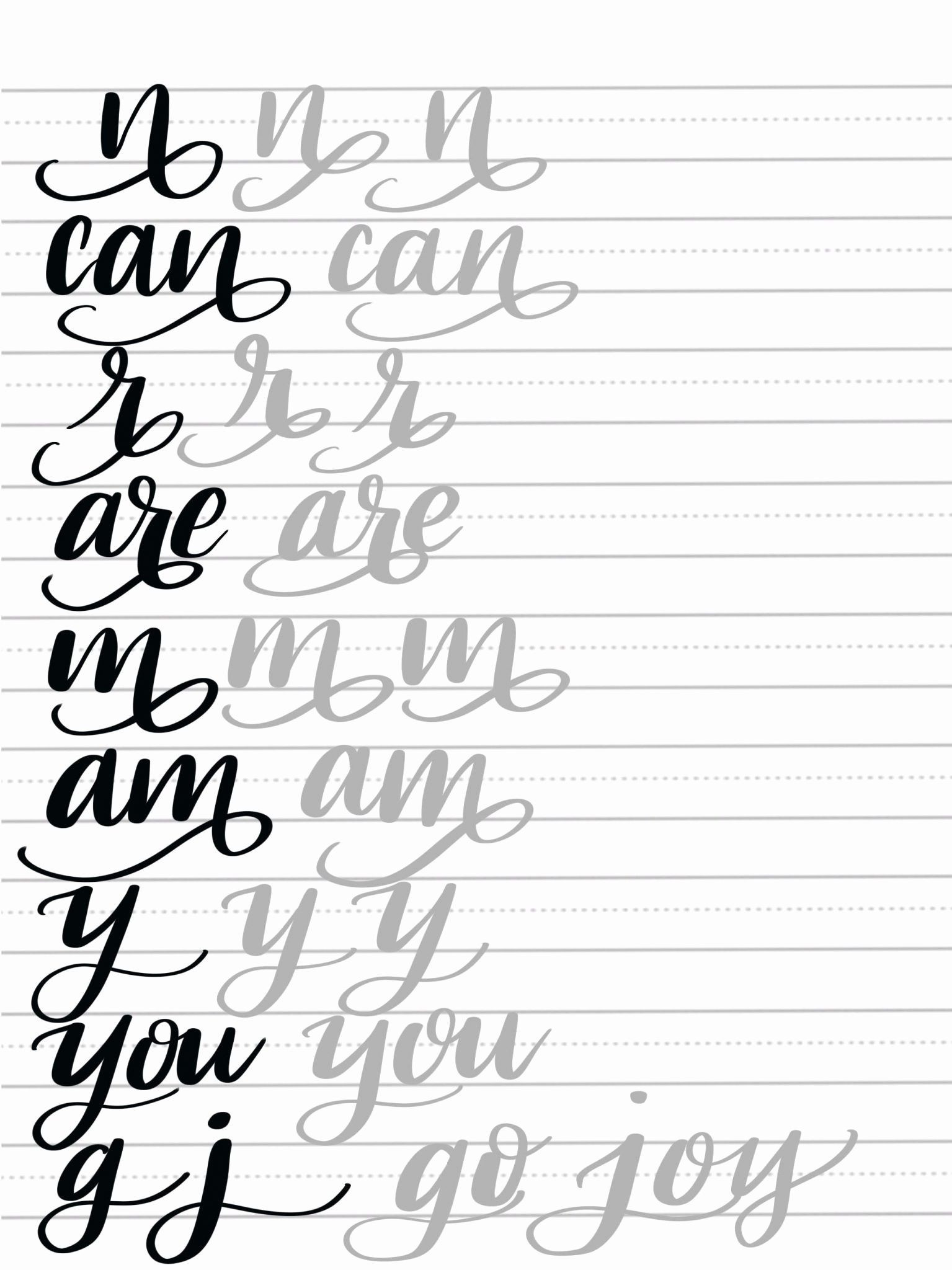 Free Calligraphy Worksheets Printable Free Alphabet Calligraphy to Free Download Free Calligraphy