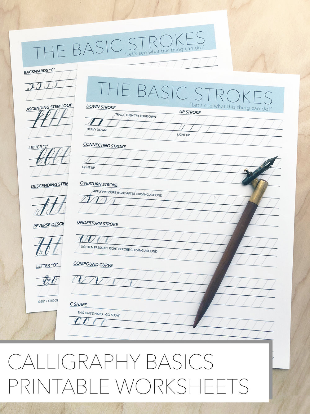 Free Calligraphy Worksheets Printable Free Basics Worksheets — Crooked Calligraphy