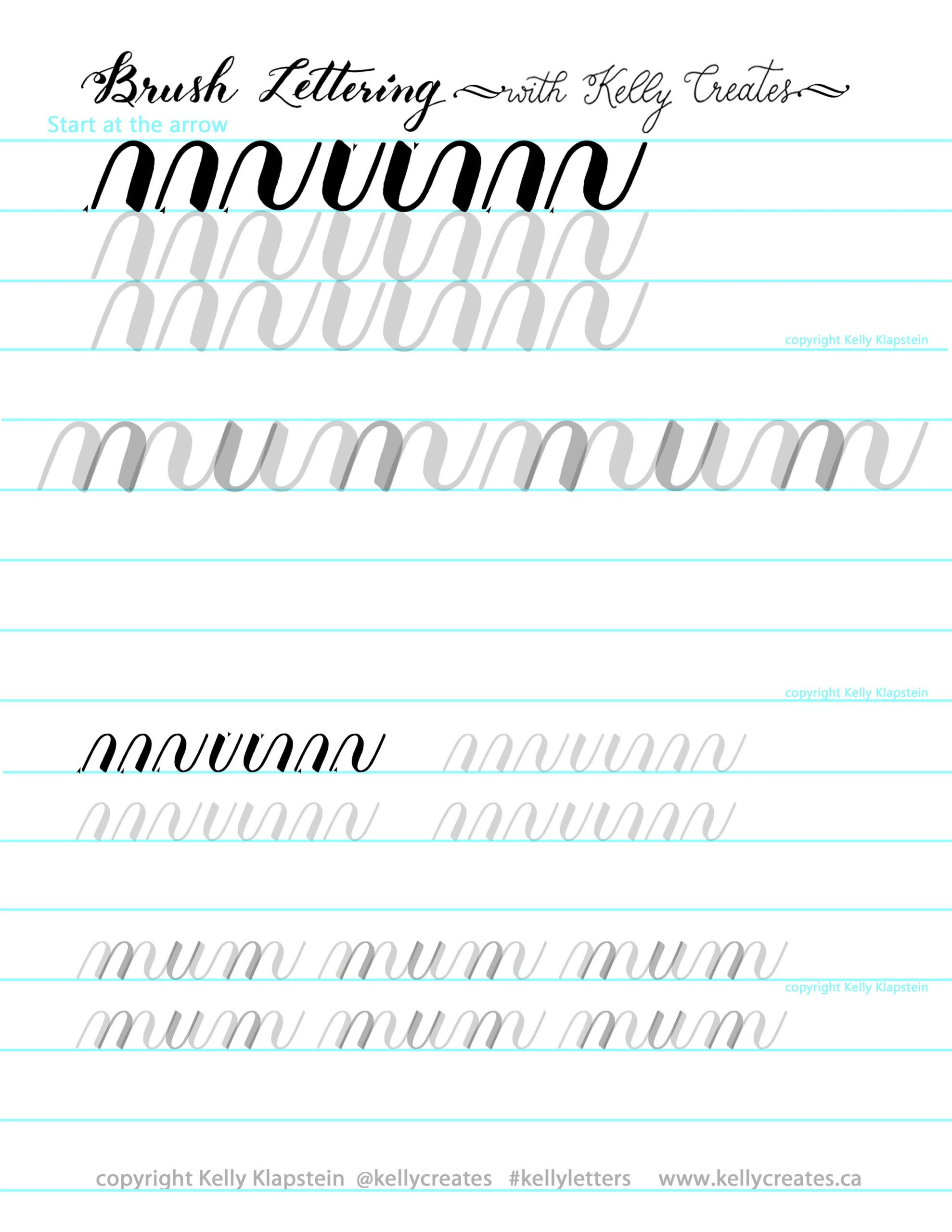 Free Calligraphy Worksheets Printable Newsletter and Free Worksheet Kelly Creates Calligraphy